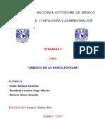 Financiamiento Bursatil a Corto Plazo - Credito de la Banca Popular