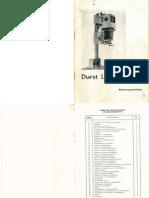 Durst Laborator 54 Bedienungsanleitung German Manual
