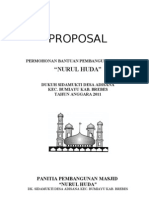 Proposal Renovasi Mushola Nurul Huda Adisana Bumiayu