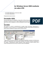 Acceso a Servidor Windows Server 2003 Mediante Escritorio Remoto Sobre VPN