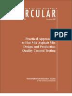 Asphalt Mix Design Procedure