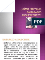 CÓMO PREVENIR EMBARAZOS ADOLESCENTES