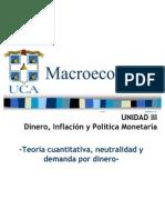 Unidad III . Dinero, Inflación y Política Monetaria Inflación (segunda parte)