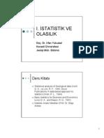 İstatistik ve Olasılık Ders Notları