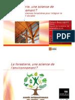 La foresterie, une science en environnement ? Les défis des sciences forestières pour intégrer le développement durable