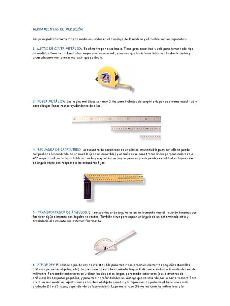 Herramientas de Carpinteria Metalica