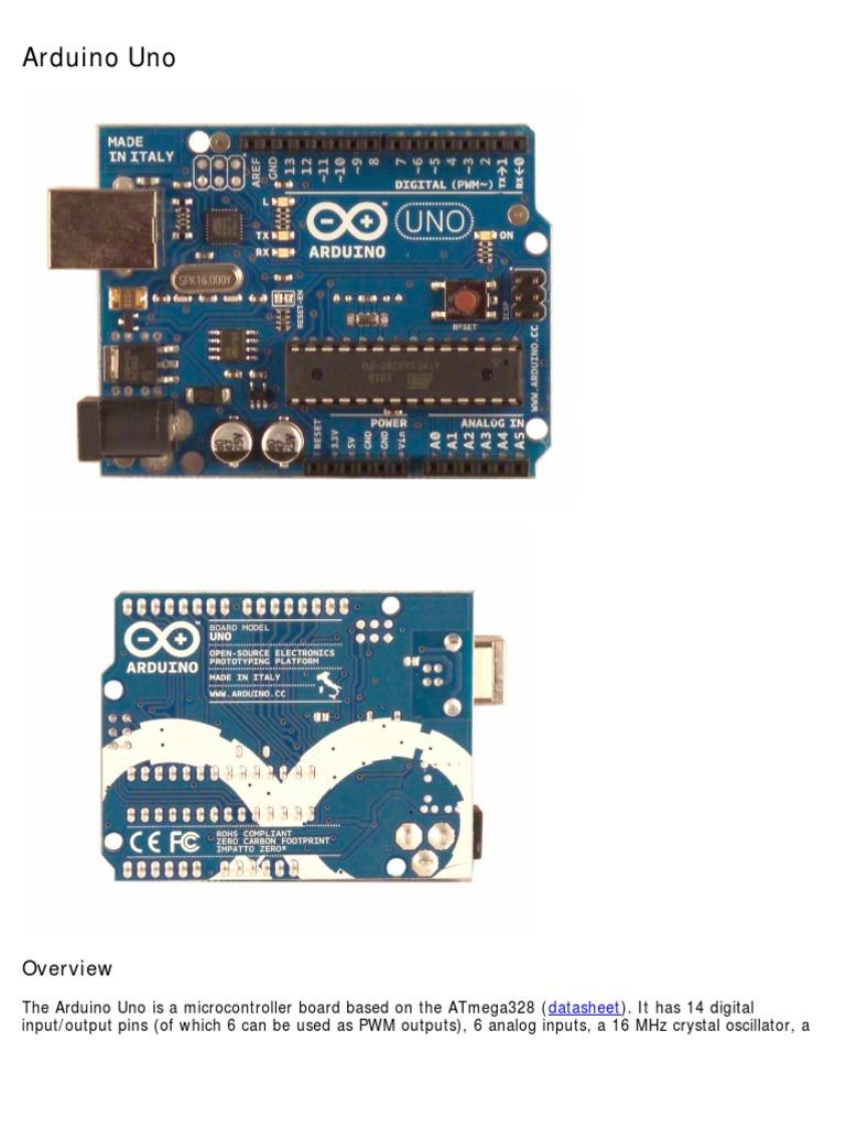 Datasheet arduino uno microcontroller