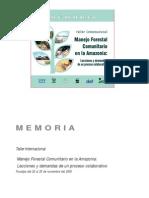MFC en La Amazonia_Taller Peru