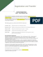 2012 2013 student registration info