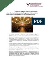 5-Conclusiones Generales y Talleres x Jornadas