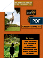 Dallas Zoo Park Board Presentation 12 1 11 Final