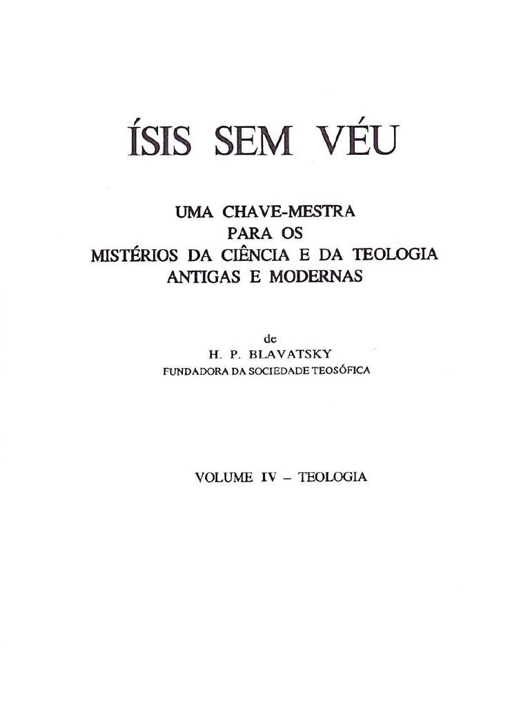42e6b08beb ÍSIS SEM VÉU Vol.IV H.P.BLAVATSKY