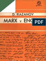 Riazanov-Marx y Engels