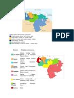 mapa de la Regiones político