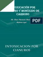 Intoxicación por Cianuro y Monóxido de Carbono