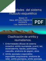Enfermedades  del sistema músculo esquelético