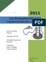 Jose Luis Garcia Fragozo - Avance Desarrollo de Proyecto de Campo
