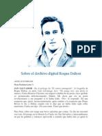 Sobre El Archivo Digital Roque Dalton
