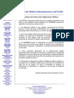XIV Asamblea Anual Ordinaria - Migraciones