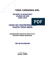 Informe de Monitoreo Aire-UNICON TINGO MARIA