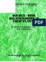 IRPS 125 Source-sink  relationships in crop plants