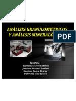 Analisis Granulometricos y Mineralogicos