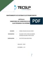 Monitoreo de condición de Grupos electrógenos vía internet