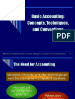 Basic Accounting Concepts, Techniques and Conventions