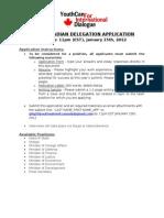 2012 CAN Delegation Application