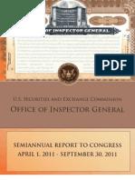 SEC OIG Report to Congress April 2011-Sept 2011