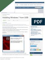 Installing Windows 7 From USB