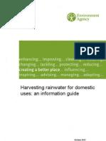 UK; Harvesting Rainwater for Domestic Uses