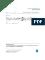 Ireland; Rainwater Harvesting and Greywater Treatment
