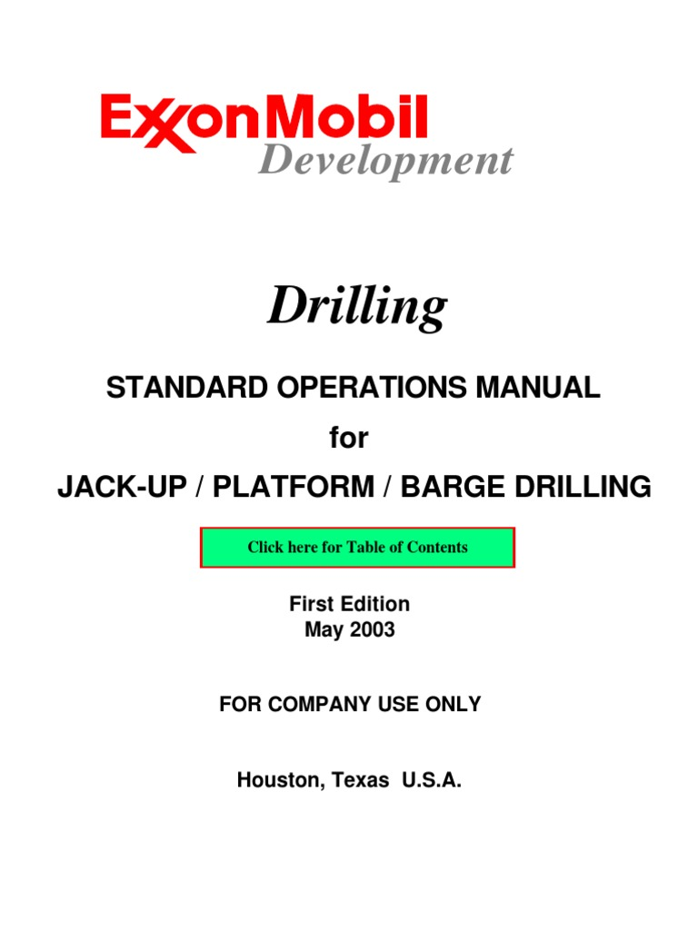 exon mobile drilling guide drilling rig casing borehole rh scribd com Workover Rig Accidents Hydraulic Workover
