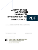 Operation & Maintanance Manual