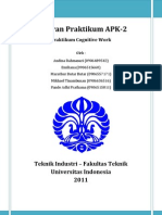 Laporan Praktikum APK Cognitive Work Kelompok 2 Siang
