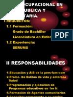 Perfil Ocupacional en Salud Publica y Com Unit Aria
