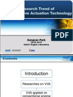 Research Trend of Variable Valve Actuation Technology