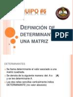 Definición de determinante de una matriz