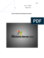 Teoria Agregar Dominio Hijo a Windows Server 2003