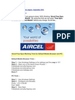 Aircel Free Gprs Trick August