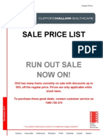 CH2 Run Out Sale Price List(1)