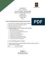BEI 101 BFP101 BSC101-Fall Assignment 2011