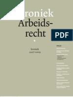 Kroniek Arbeidsrecht 2007-2009