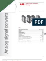 ABB; Analog Signal Converters, CC Range