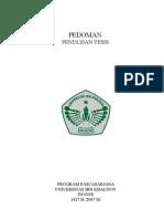 Pedoman Penulisan Tesis Pasca UIKA Bgr (Revised Version 28Juli 2007)