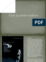 Case 39' poster analysis