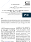 Antibacterial Activity of Brazilian Propolis and Fractions Against Oral