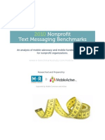 Nonprofit Text Messaging Benchmarks Study 2010
