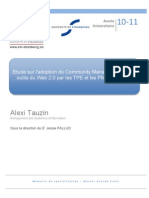 etudesurladoptionducommunitymanagementetdesoutilsduweb2-0parlestpeetlespmeenfrance-111017112822-phpapp01